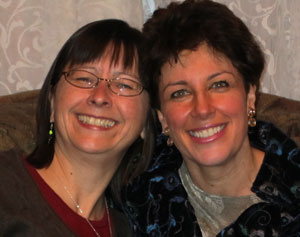 Happiness and spiritual growth from Goethe.  Ann Strong and Tama Kieves celebrating.