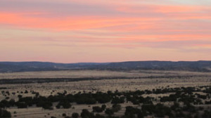 """One of the many wonderful places I now get to walk and delight in so many elements of nature: a sunset from my """"Big Backyard,"""" the Galisteo Basin Preserve"""