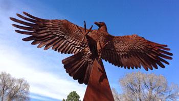 Shidoni Sculpture Gardens in Teseque, NM