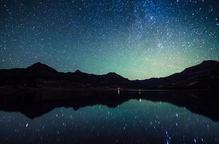 Milky way reflection at William's Lake, Colorado